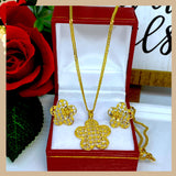 18K Real Gold Star Set of Jewelry