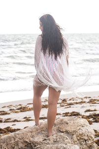 Sandy Fringed Poncho