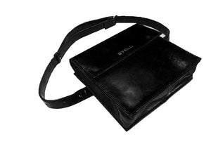 Leah Leather Belt Bag- Black