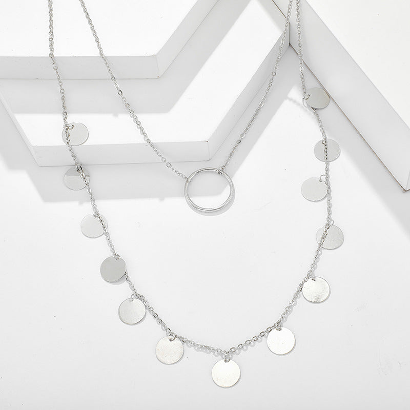 Circle Multilayer Necklace