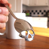 Skull shape hollow coffee spoon
