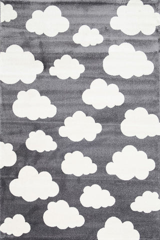 Cloud Dark Grey White