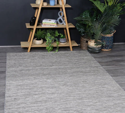 Sun Dance Reversible Indoor Outdoor Grey Black Rug