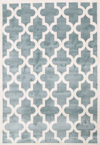 Lattice Pattern Light Blue White
