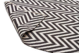 Abode Chevron Design Black Rug - Cheapest Rugs Online - 2