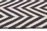 Abode Chevron Design Black Rug - Cheapest Rugs Online - 3