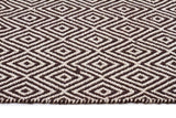 Abode Diamond Design Chocolate Rug - Cheapest Rugs Online - 3