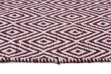 Abode Diamond Design Purple Rug - Cheapest Rugs Online - 3