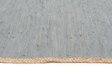 Atrium Reno Cotton and Jute Rug Blue