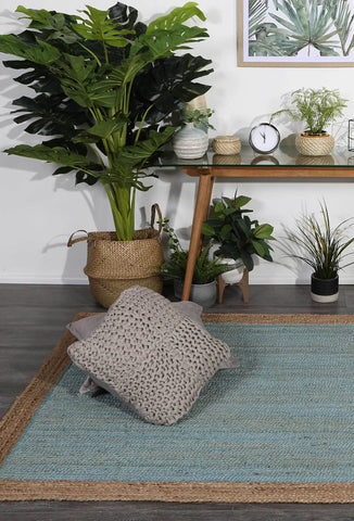 Hampton Blue Jute Rugs