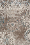 Renaissance Brown Faded Floral Design 2062