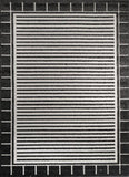 Cario Stripes Square Border Black