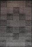 Cario Checkered Square Print Black Cream