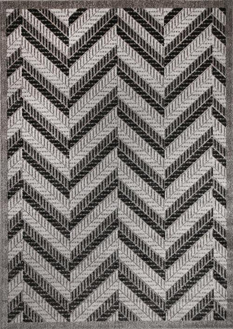 Cario Chevron Stripes Grey
