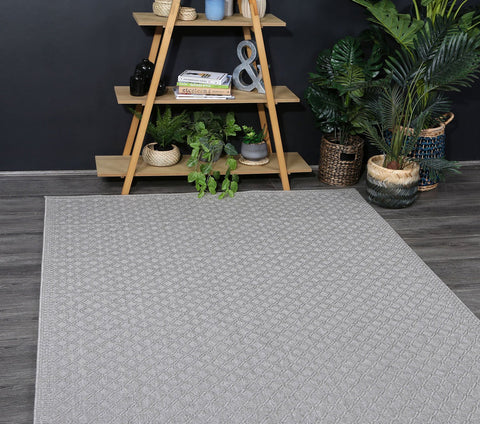 Sydney Courtyard Diamond Stone Rug