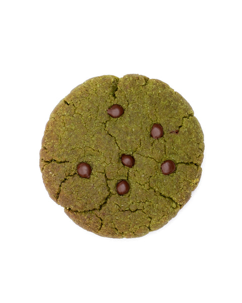 Matcha Mint Chip Cookies <br> Grain-free + Vegan