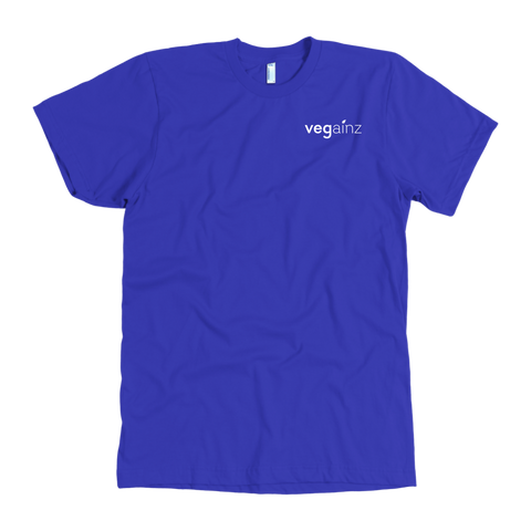 Vegainz Tee in blue - Chest Logo