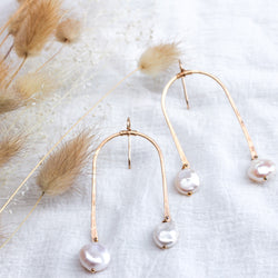 Pearl Arch Earrings