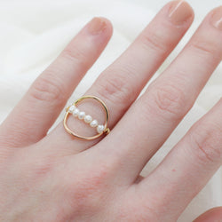 Pearl Halo Ring