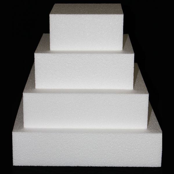 "Square Cake Dummy Set of 4 Dummies from 6"" to 12"" by Shape Innovation, Inc."