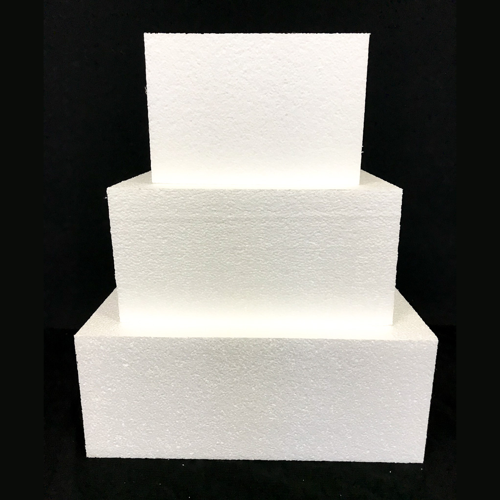 "Square Cake Dummy Set of 3 Dummies from 6"" to 10"" by Shape Innovation, Inc."
