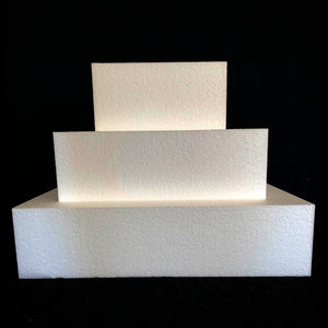 "Square Cake Dummy Set of 3 Dummies from 8"" to 16"" by Shape Innovation, Inc."