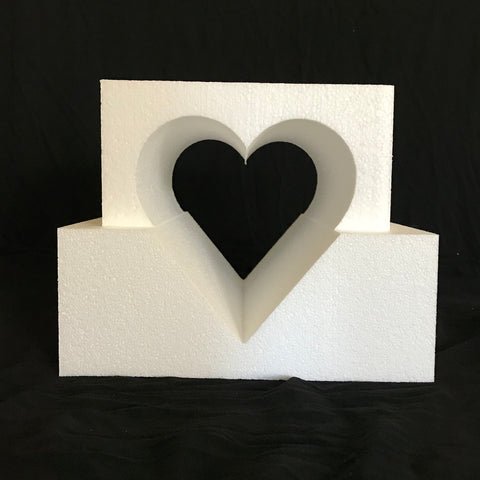 Specialty, Square Cake Dummy with Heart Shaped Cutout by Shape Innovation, Inc.