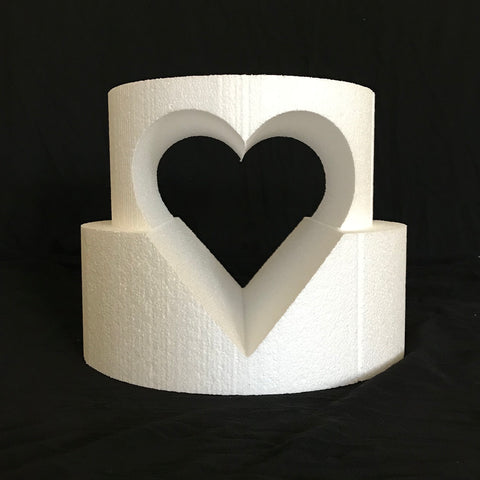 Specialty, Round Cake Dummy with Heart Shaped Cutout by Shape Innovation, Inc.