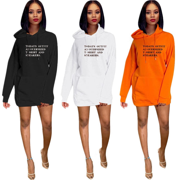 Exclusive Hooded Sweatshirt Dress
