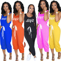 Saved & Still Dope Drawstring Jumpsuit