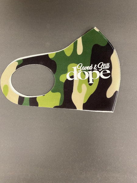 Saved & Still Dope Camo Mask