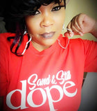 """Saved & Still Dope"" Cherry Red Tee"