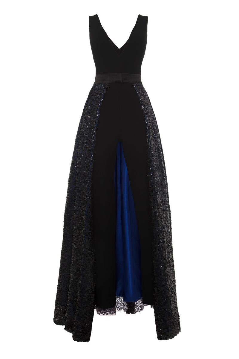 Black and Blue Gown