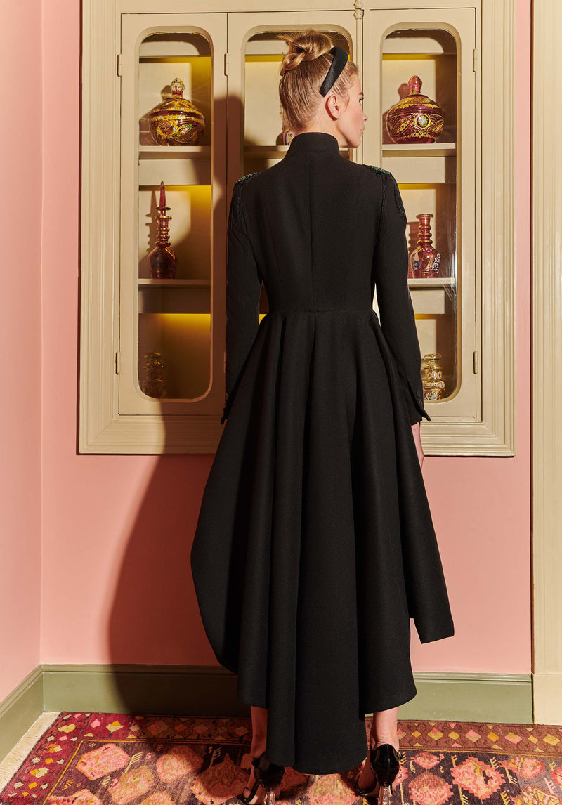 Black coat back