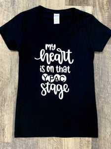 "Shirt- YPAC ""Heart on Stage"" T-Shirt"