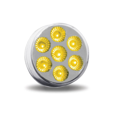 "2.5"" Round Clear Amber LED Light"