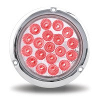 "4"" Clear Red Stop, Turn & Tail LED Flange Mount"