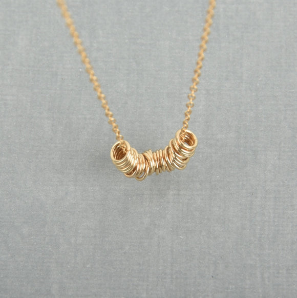 Little rings necklace