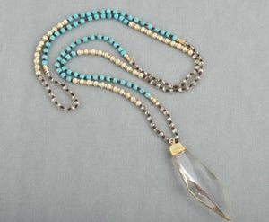 Hand-knotted crystal necklace