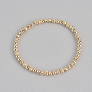 Karlee Gold Beaded Bracelet