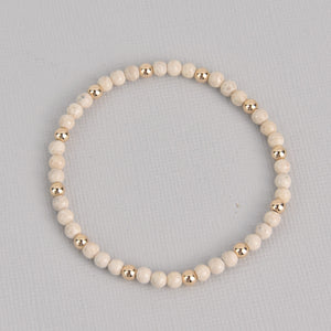 Kara Gold Beaded Gemstone Bracelet