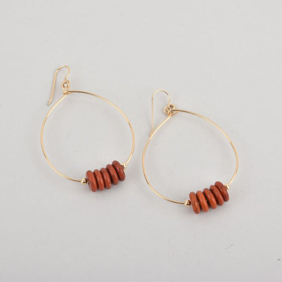 Stella Hoop Earrings - Rust