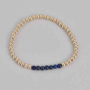 Kelsey Gold Beaded Gemstone Bracelet
