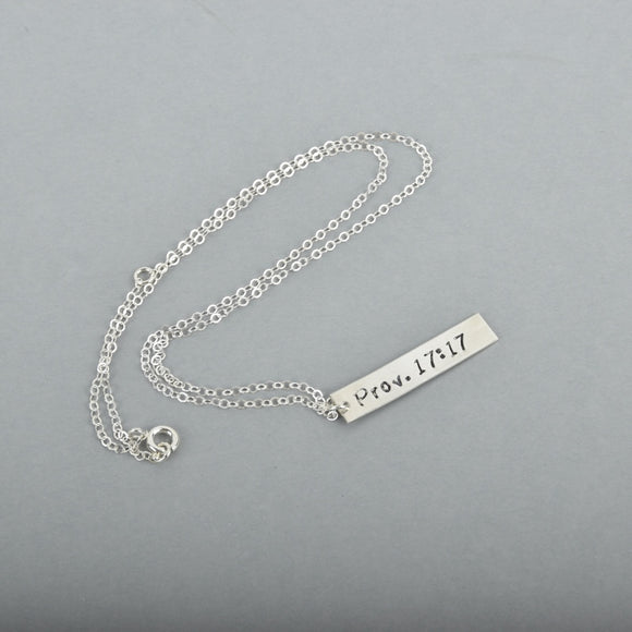 Scripture Bar Necklace