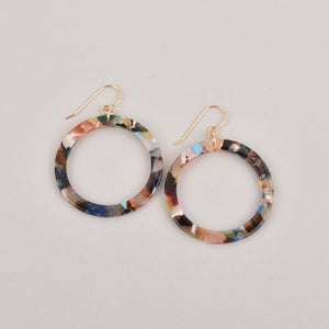 Kaleidoscope Hoops Terrazzo Earrings