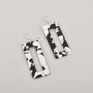 Tuxedo Terrazzo Earrings