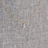 Tiny Letter Gold Necklace