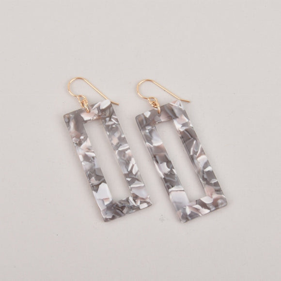 Gray Mist Terrazzo Earrings