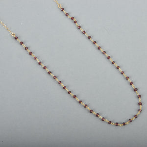 Ruby Rosary Chain Necklace