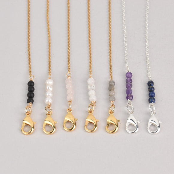 Dainty Face Mask Chain Necklace